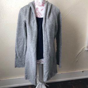 CAbi Hooded Lamb's Wool Open Cardigan M Grey